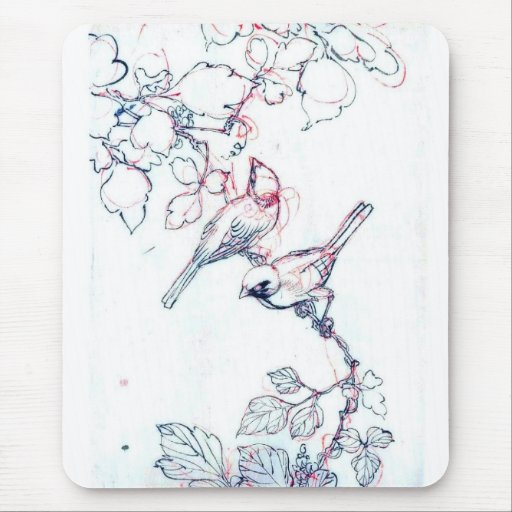 Vintage Art Collection Mouse Pad