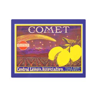 Vintage Art Comet Brand Lemon Crate Label