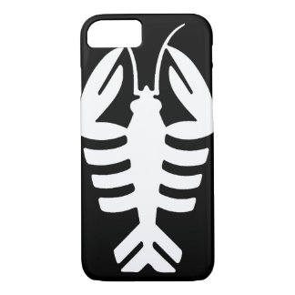 Vintage Art Deco Animal, Lobster in White iPhone 8/7 Case