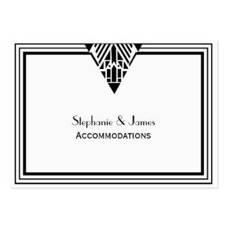 Vintage Art Deco Black Wht Frame #1 Accommodations Large Business Cards (Pack Of 100)