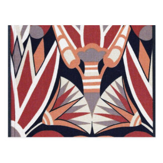 Vintage Art Deco Book Paper Pattern Postcard