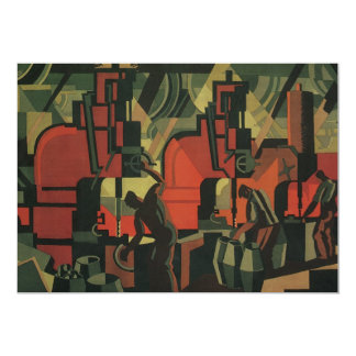 Vintage Art Deco Business Industrial Manufacturing Card