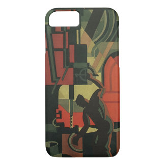 Vintage Art Deco Business Industrial Manufacturing iPhone 8/7 Case