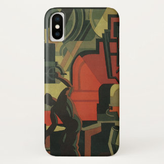 Vintage Art Deco Business Industrial Manufacturing iPhone X Case