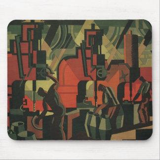 Vintage Art Deco Business Industrial Manufacturing Mouse Pad
