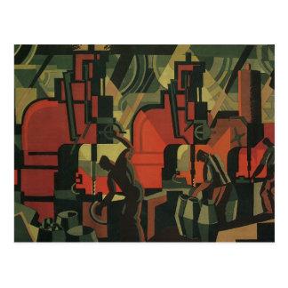 Vintage Art Deco Business Industrial Manufacturing Postcard