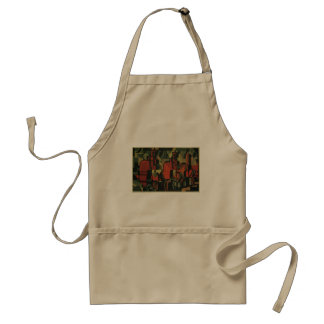 Vintage Art Deco Business, Manufacturing Workers Adult Apron
