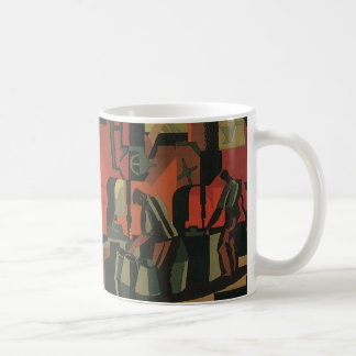 Vintage Art Deco Business, Manufacturing Workers Coffee Mug