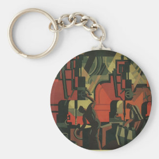 Vintage Art Deco Business, Manufacturing Workers Keychains