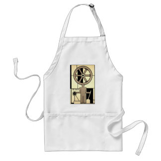 Vintage Art Deco Business Wheel and Machine Worker Adult Apron