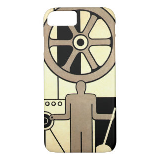 Vintage Art Deco Business Wheel and Machine Worker iPhone 8/7 Case