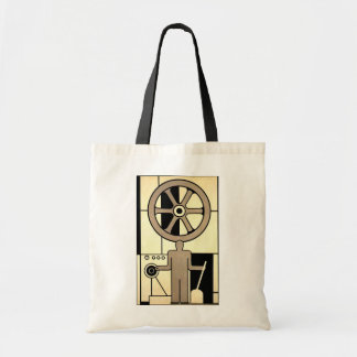 Vintage Art Deco Business Wheel and Machine Worker Tote Bag