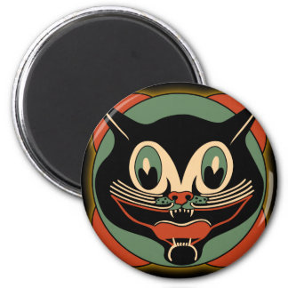 Vintage Art Deco Cat Halloween Magnet