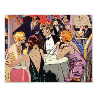 Vintage Art Deco Cocktail Party at Nightclub Card