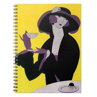 Vintage Art Deco Cookbook Recipes Journal Notebook