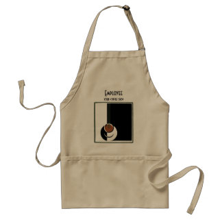 Vintage Art Deco, Cup of Coffee with Steam Adult Apron