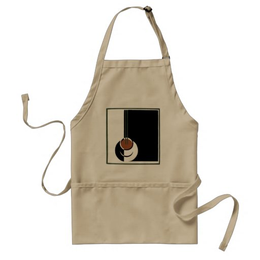 Vintage Art Deco Cup of Coffee with Steam Aprons