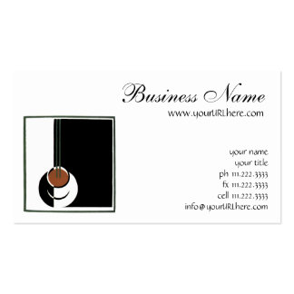 Vintage Art Deco Cup of Coffee with Steam Business Card