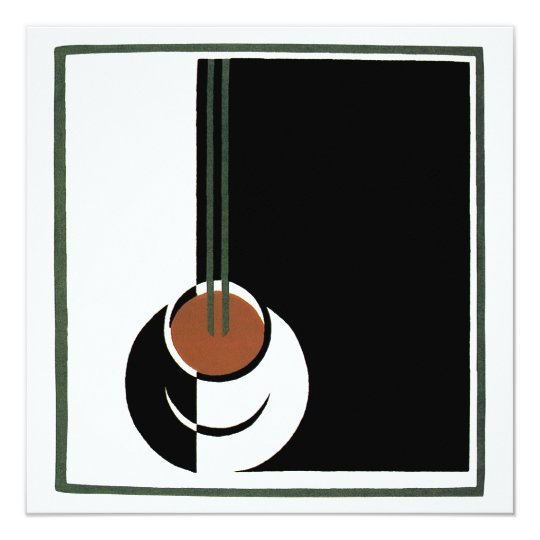 Vintage Art Deco, Cup of Coffee with Steam Card