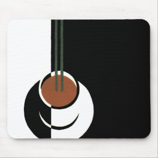 Vintage Art Deco, Cup of Coffee with Steam Mouse Pad