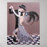 VINTAGE ART DECO DANCERS POSTER