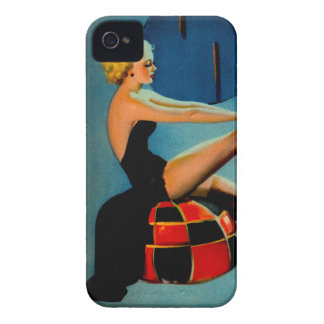 Vintage Art Deco Era Gil Elvgren Pin Up Girl Case-Mate iPhone 4 Cases