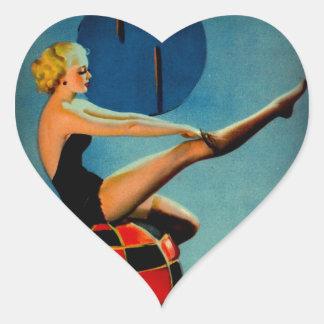 Vintage Art Deco Era Gil Elvgren Pin Up Girl Sticker