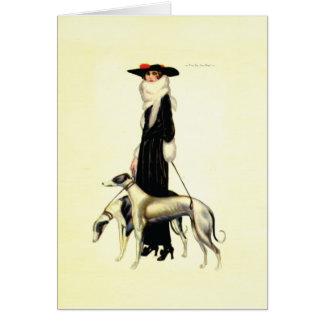 Vintage Art Deco Fashion Greeting Card