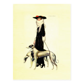 Vintage Art Deco Fashion Post Card