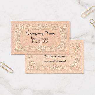 Vintage Art Deco Faux Embossed Business Card