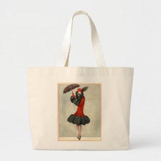 Vintage Art Deco Flapper/Fashion Jumbo Tote Jumbo Tote Bag
