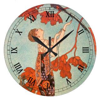 Vintage Art Deco Flighty Bird by George Barbier Clocks