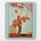 Vintage Art Deco, Flighty Bird by George Barbier Mouse Pad