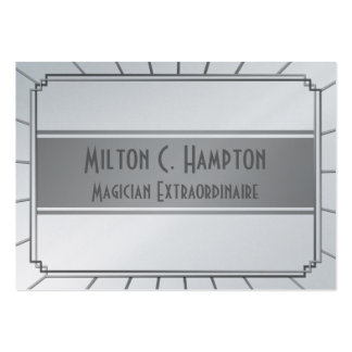 Vintage Art Deco Gatsby Style Frame Large Business Cards (Pack Of 100)