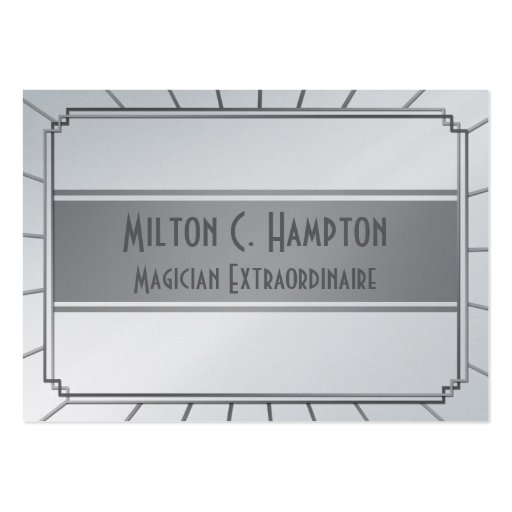 Vintage Art Deco Gatsby Style Frame Business Cards