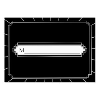Vintage Art Deco Gatsby Style Place Cards Business Card Template