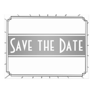 Vintage Art Deco Gatsby Style Save the Date Post Cards
