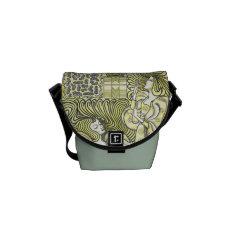 Vintage Art Deco Graceful Women Mini Messenger Courier Bag at Zazzle