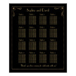 Vintage Art Deco Great Gatsby Seating Chart 16