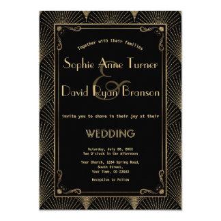 vintage art deco great gatsby wedding invitation - Gatsby Wedding Invitations