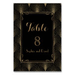 Vintage Art Deco Great Gatsby Wedding TABLE NUMBER