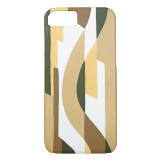 Vintage Art Deco Jazz Curve Pattern Autumn Colors iPhone 8/7 Case