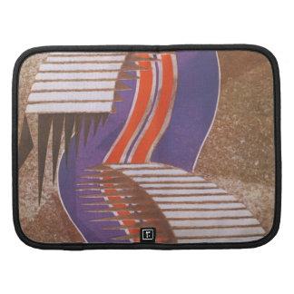 Vintage Art Deco Jazz Pochoir Stair Step Pattern Organizers