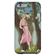 Vintage Art Deco Love and Romance Newlyweds Couple Tough iPhone 6 Case