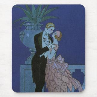 Vintage Art Deco Love Romance Newlyweds Wedding Mouse Pad