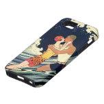 Vintage Art Deco Love Romantic Kiss Beach Wave iPhone 5 Case