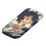 Vintage Art Deco Love Romantic Kiss Beach Wave Galaxy S3 Case