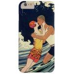 Vintage Art Deco Love Romantic Kiss Beach Wave Barely There iPhone 6 Plus Case