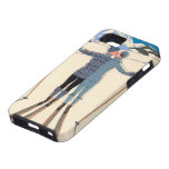 Vintage Art Deco Love Romantic Kiss on Skis Snow iPhone SE/5/5s Case