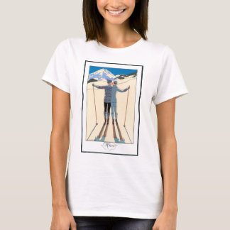 Vintage Art Deco, Lovers in Snow by George Barbier T-Shirt